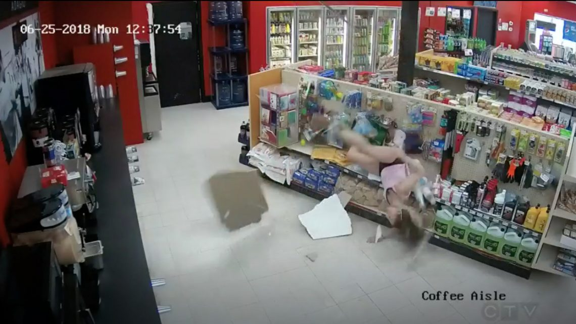 This Footage of an Alleged Thief Falling Through the Ceiling Deserves an Oscar