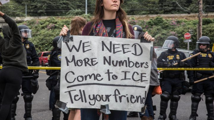 Inside the Portland Occupy ICE Camp and Its Battle with the Feds