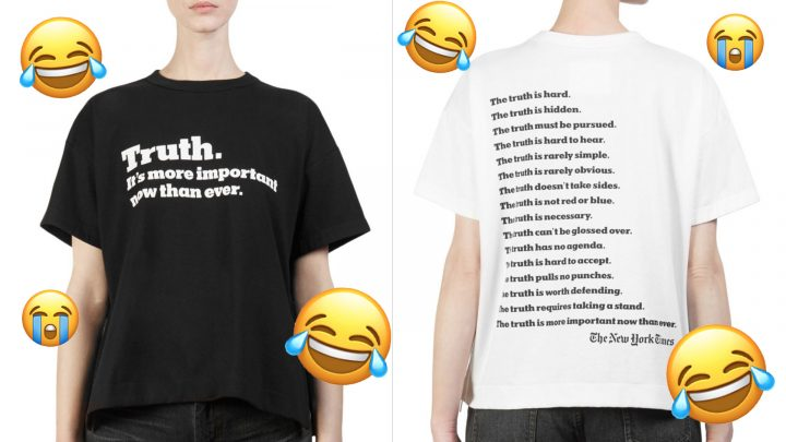 The 'New York Times' Invites You to Fight Fake News with This $300 T-Shirt