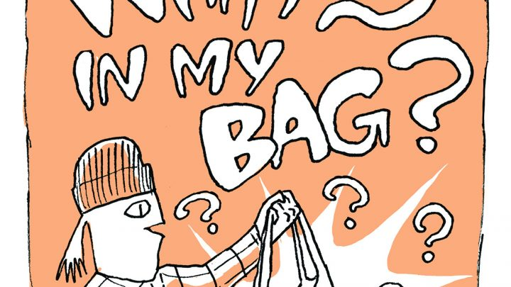 'What's in My Bag?' Today's Comic by Lane Milburn