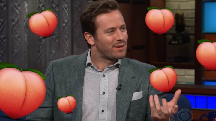 Armie Hammer Is Getting Bombarded by Peach-Wielding Fans