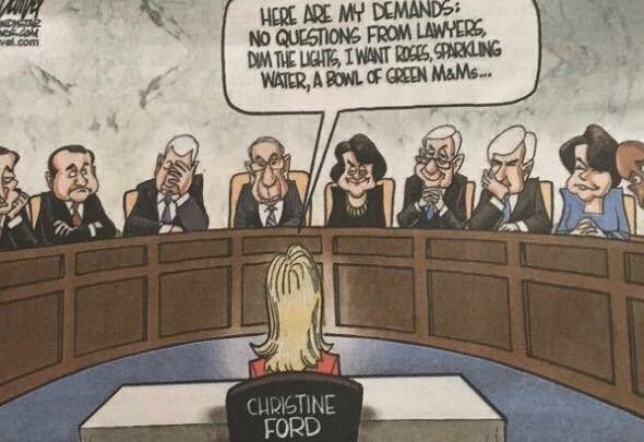 This Newspaper Ran a Wildly Offensive Cartoon of Kavanaugh's Accuser