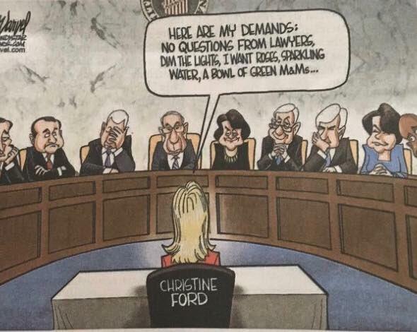 This Newspaper Ran a Wildly Offensive Cartoon of Kavanaugh's Accuser
