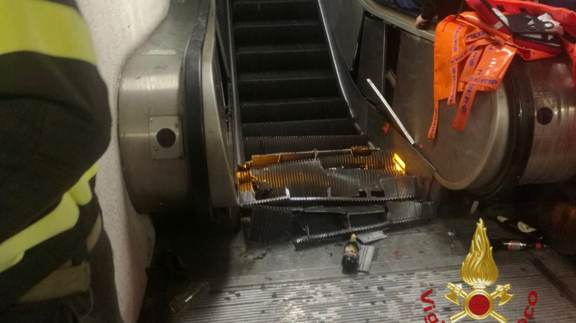 Video Shows Terrifying Escalator Accident in Rome That Injured at Least 20