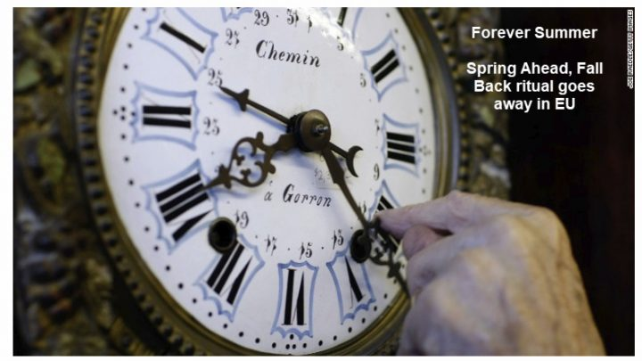 Summer Forever as EU Abolishes Spring-Fall Clock Switching: Humorous DST Origin