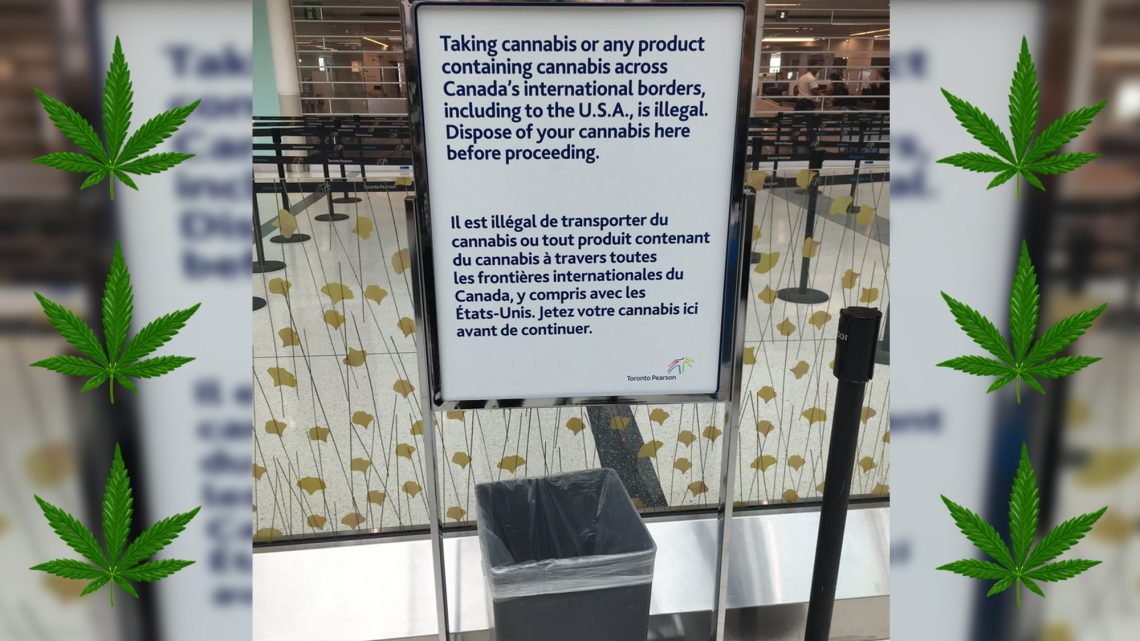 Sadly, There Are No 'Free Weed' Garbage Bins at Toronto's Airport