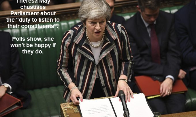Hypocrite Theresa May in Bed With the EU While Chastising the UK Parliament