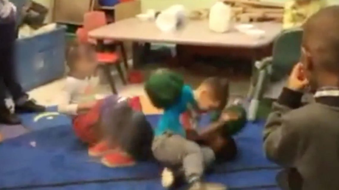 Wild Video Shows a Fight Club for Toddlers at a Daycare Center