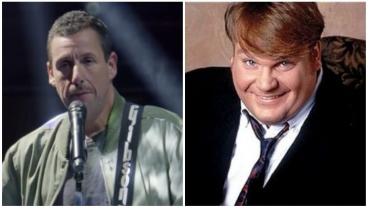 Watch Adam Sandler's Extremely Pure Musical Tribute to Chris Farley