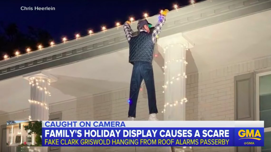 Watch This Guy Launch an All-Out Rescue Mission for a 'Christmas Vacation' Dummy