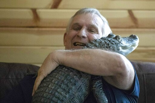 Check Out This Dude's 'Emotional Support Gator'