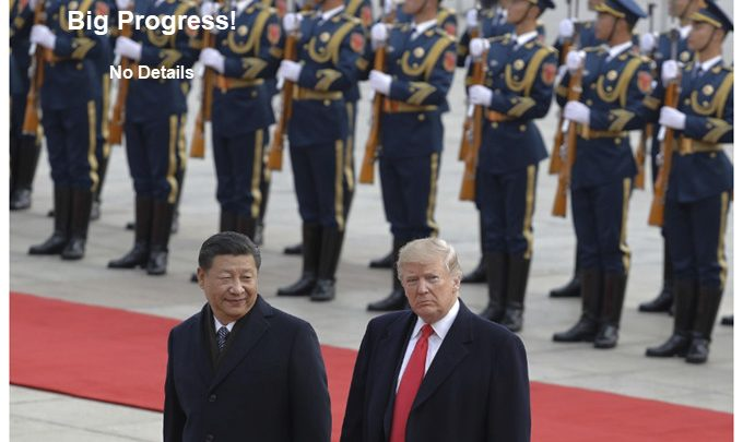 "Trump Hails ""Big Progress"" on Trade Deal With China"