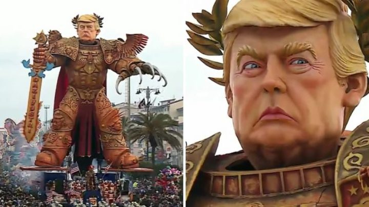 Here's a Huge Trump Papier-Mache… Thing