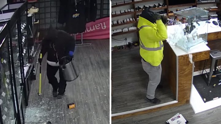 This Vape Store Robbery Footage Is 2019's Best Comedy Film