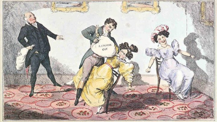 A Brief, 200-Year History of Humanity's Love for Laughing Gas