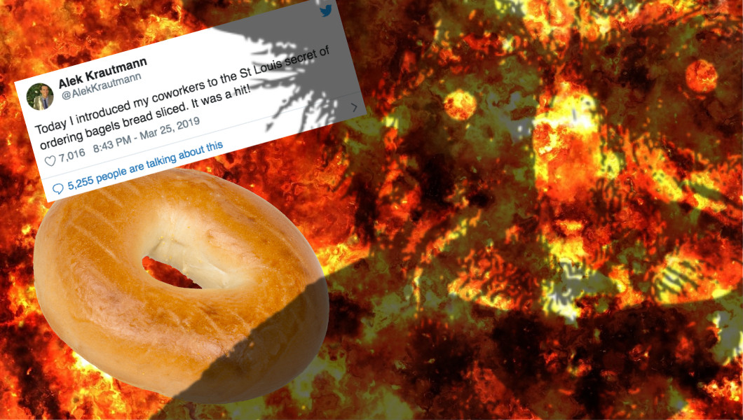 A Horrifying Tweet About 'St. Louis Bagels' Spawned a Cursed Food Meme