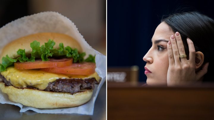 Conservatives Are Bizarrely Claiming AOC Wants to Take Your Burger Away