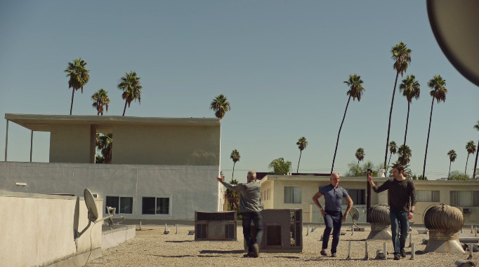 NoHo Hank dancing on the roof