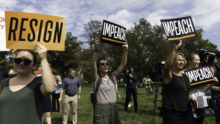 Congress Left for Recess and Pro-Impeachment Groups Smell Blood