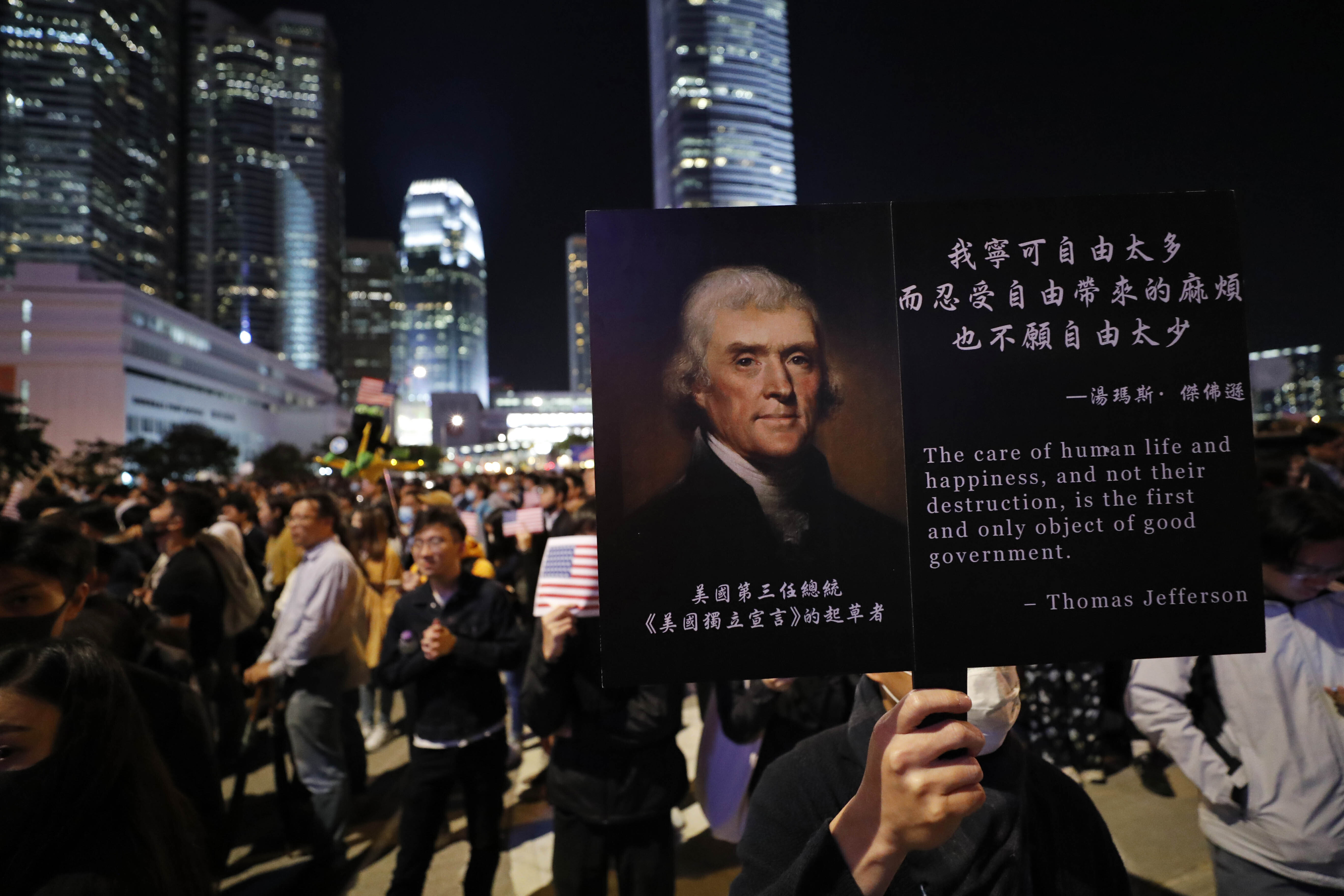 Hong Kong Is Giving Thanks For the U.S.'s New Pro-Protesters Law. China Is Furious.
