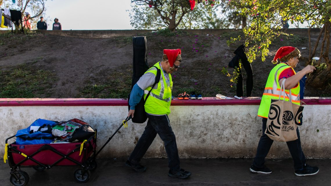 What Christmas Was Like in a Migrant Tent City on the Border With Mexico