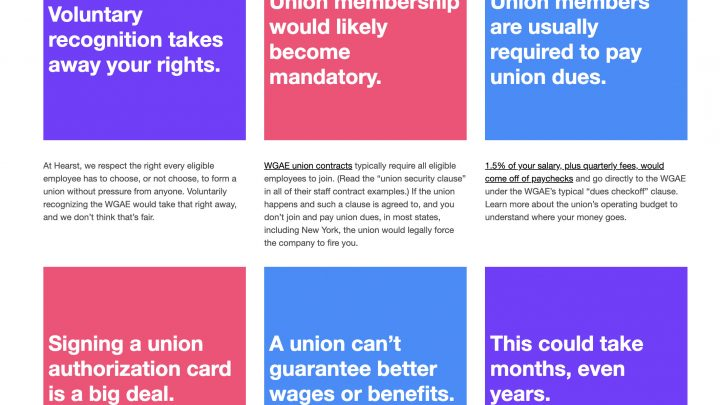 Wow, Hearst Set Up a Whole Website Dedicated to Union-Busting