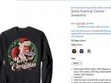 Amazon Is Still Selling Festive Christmas Sweaters Showing Santa Doing Cocaine