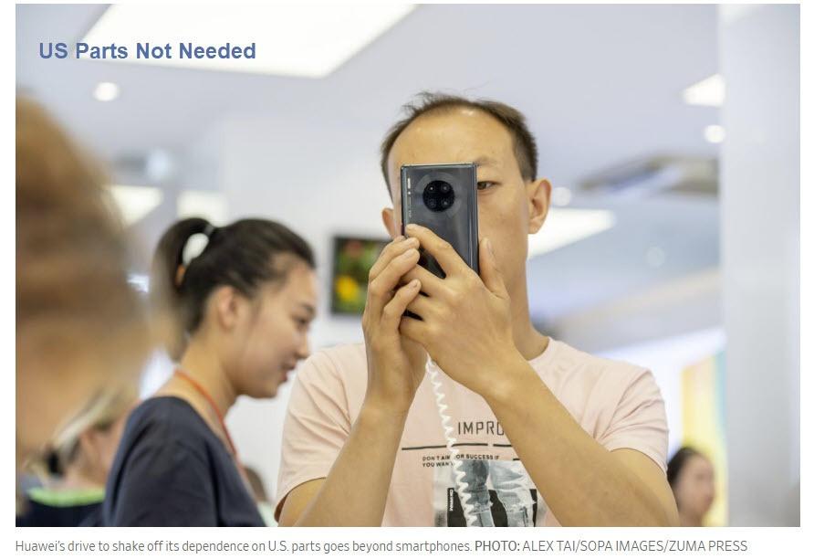 China No Longer Needs US Parts in its Phones