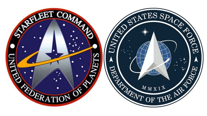 Trump Revealed the Logo for Space Force and It's Just the Star Trek Logo