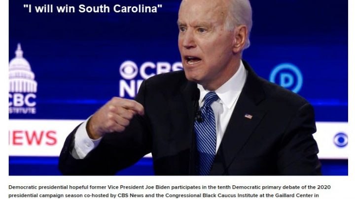 Biden Guarantees He Will Win in South Carolina