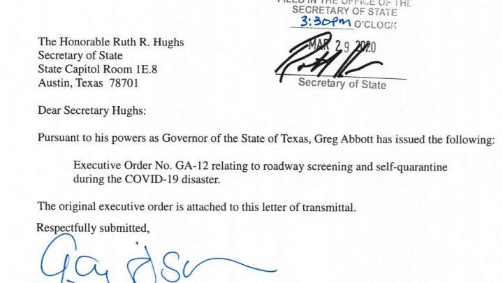 Texas Orders Travelers From Louisiana to Self-Quarantine