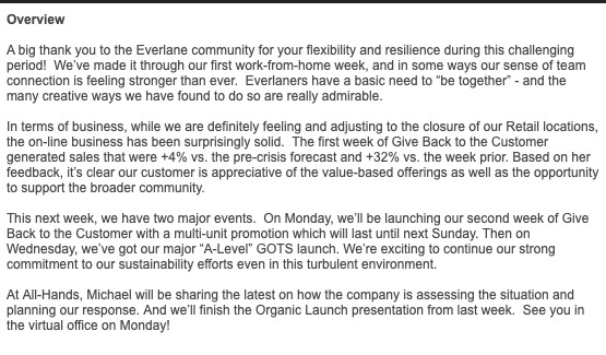 Everlane Reassures Workers, Then Lays Off and Furloughs Hundreds