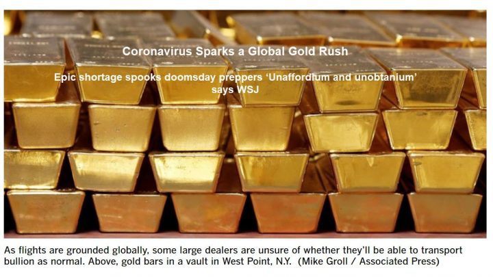 No WSJ, Gold is Not the New Unobtanium: Where to Buy?