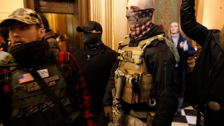 People With Guns (And No Masks) Swarmed the Michigan State Capitol to Protest the Coronavirus Lockdown