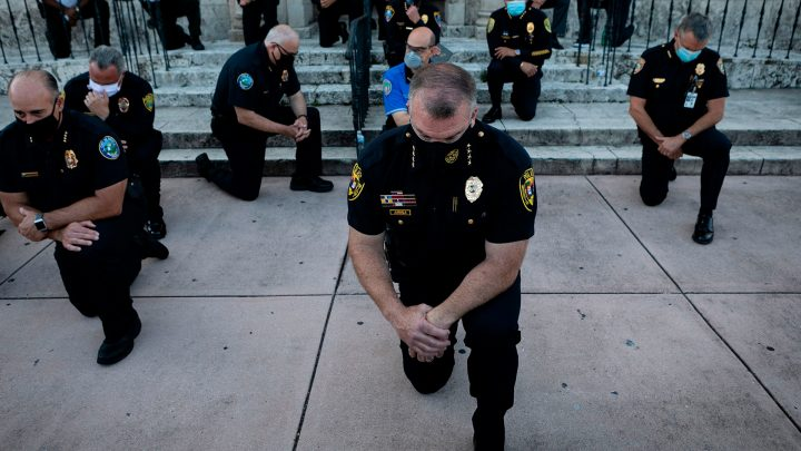 Cops Are Taking a Knee. Not Everyone Is Convinced.