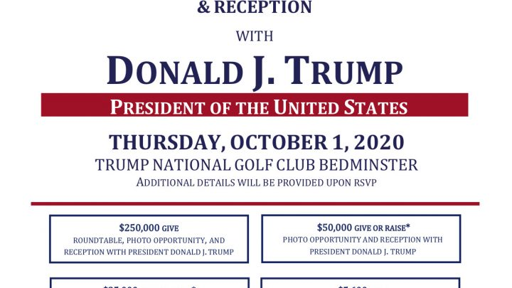 Trump Mingled Mask-Less at Golf Club Fundraiser