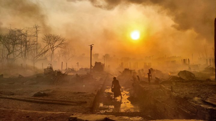 Rohingya Refugees Describe Tearing Through Fences to Escape Massive Fire